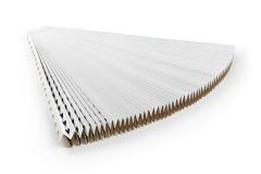 Pleated cardboard filter