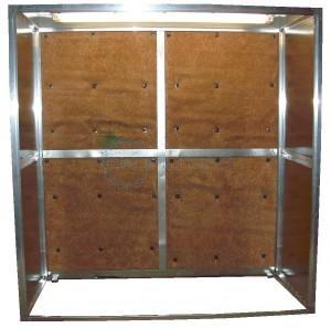 Dažymo sienelė 2x2 su reflektoriais